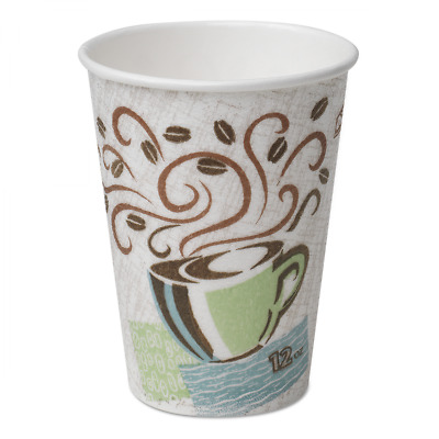 Dixie PerfecTouch® 12oz Insulated Paper Hot Cups, Disposable Coffee Cups, 5342DX