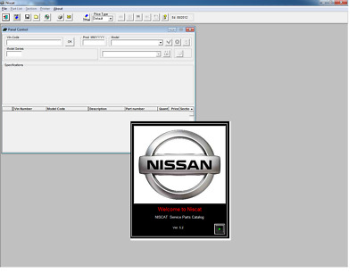 Nissan Niscat Epc Spain Version Parts Catalog 08/2012