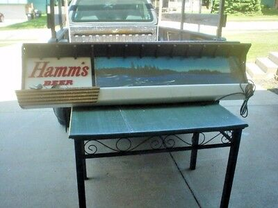 Hamms Beer Lighted Lake Sign  Bar Light