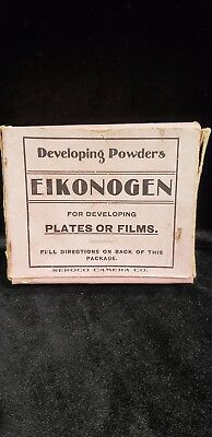 Vintage 1930's Photo Developing Printing Papers Powders  EIKONOGEN