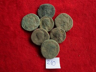 Ancient Roman coins - UNCLEANED COINS -  BIG COINS  . Lot with 7 pieces .No.210