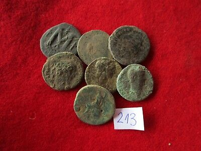 Ancient Roman coins - UNCLEANED COINS -  BIG COINS  . Lot with 7 pieces .No.213
