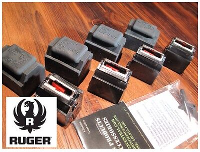 4 Pack Fits  Ruger 10/22 Magazines 22 LR BX-1 10 RD Clips 90451 W/ CAPS & Goodie