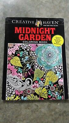 Creative Haven Midnight Garden Adult Coloring Book BRAND NEW