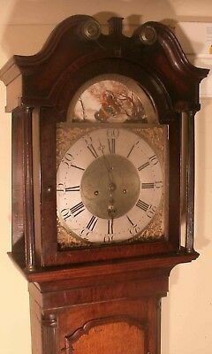 "Antique Oak  Automation Horseman ""holywell""  Longcase / Grandfather Clock"
