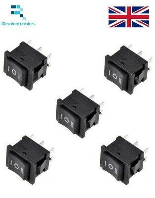 New 3 Position Rectangular Rocker Switch Black 6 Pin ON-OFF-ON 250V/6A 125V/10A