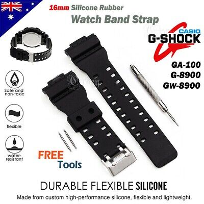 Replacement Silicone Wrist Band Strap Watch Bracelet W/ Tools For CASIO G SHOCK