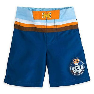 Disney Store Mickey Mouse Swim Trunks Swimsuit 50+ UV Protection Boys 2 3