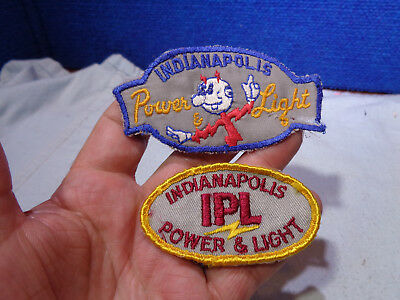 Vintage **reddy Kilowatt** Figural Shirt Patch & Ipl  Indianapolis Power & Light
