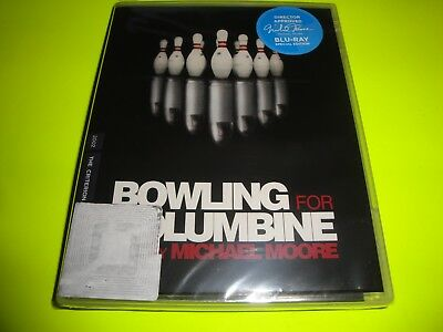 """BOWLING FOR COUMBINE(Blu-ray Disc, 2018, Criterion Collection) #928 """"BRAND NEW"""""""