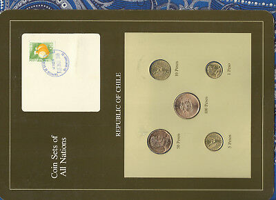 Coin Sets of All Nations Chile UNC 100 Pesos 1987 50,10,5,1 Pesos 1989