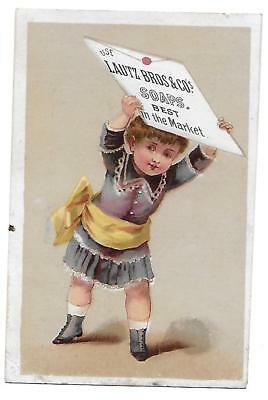 1880's Lautz Soap Victorian Trade Card D. H. Pitts, Mansfield,  Tioga Co. Pa.