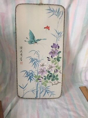 Vintage Chinese Watercolor On Silk