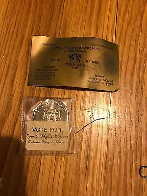 University of Western Ontario / London medal 1878-1978 vote for Williams