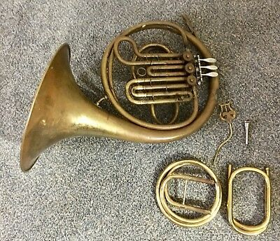 Vintage French Horn Carl Fischer New York With Case North Carolina Estate Find