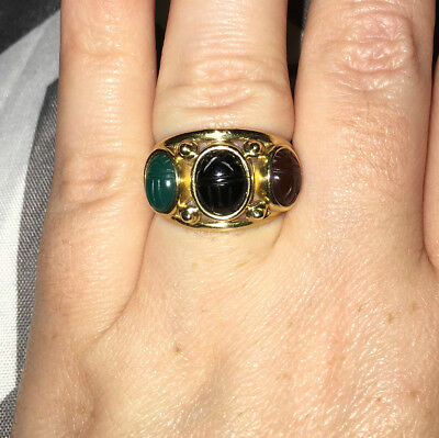 Vintage Egyptian Revival Scarab Ring