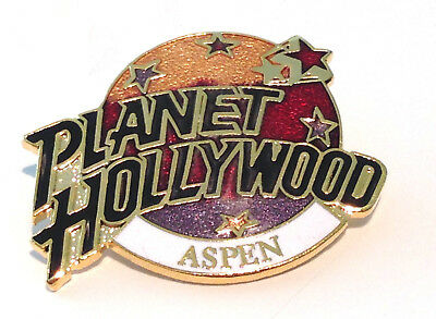 Planet Hollywood Aspen CO gold red purple classic pin unusual!