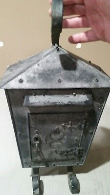 Vintage Fulton Mailbox Fulton Illinois Original Glass/patina Free Shipping