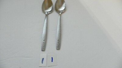 Set Of 2  Thc   United Airlines     Teaspoons  Stainless 6 1/8 Inch