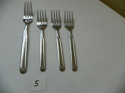 Cambridge Paige 3 Salad Forks And 1 Dinner Fork Stainless  Flatware
