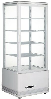 110V Cake Pie Showcase Display Cabinet Commercial 360 Degree Refrigerated  Case