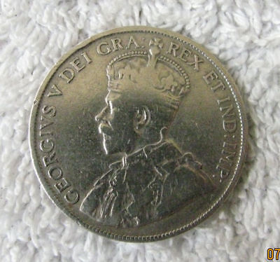 1917 Newfoundland Canada Fifty 50 Cents Silver Coin