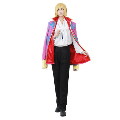 Howl's Moving Castle Howl Cosplay Costume Jacket Shirt Pants Jewelry Necklace