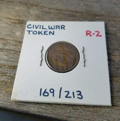 1863 Peace Maker Cannon Stand By The Flag Patriotic Civil War Token