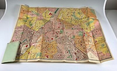 VTG 1940's De Rouck Nr. 42 road tourist travel Map Guide to Brussels Belgium