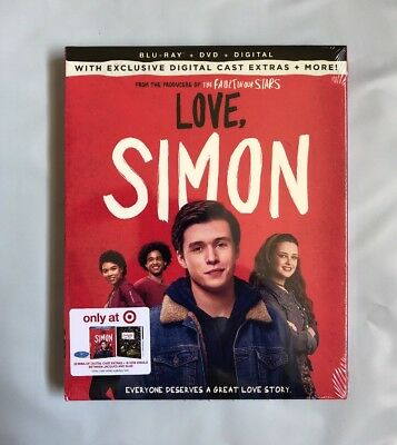 Love, Simon Target Exclusive (Blu-ray + DVD + Digital) Brand New