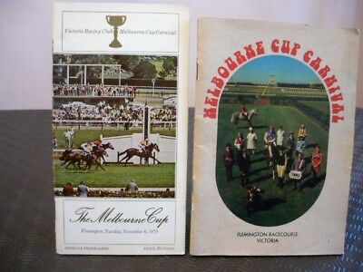 Melbourne Cup Race Book 1973 Gala Supreme and the 1973 Cup Carnival Booklet.