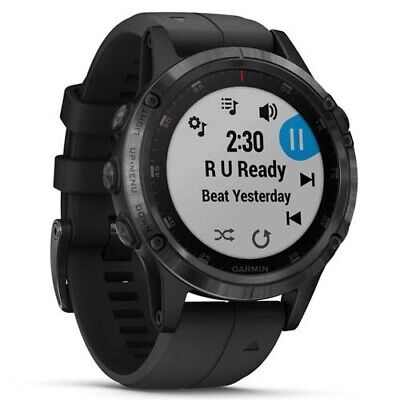 Garmin Fenix 5 Plus Sapphire - Black (Black Band) with GEN GARMIN WARR