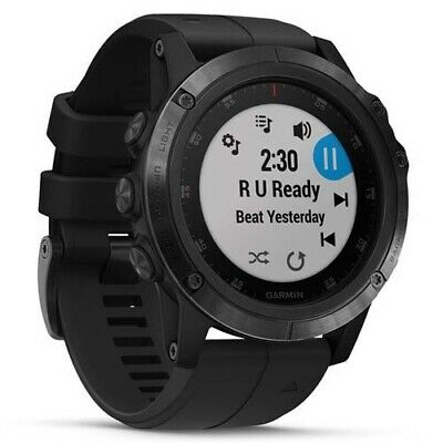 Garmin Fenix 5X Plus Sapphire - Black (Black Band) with GEN GARMIN WARR