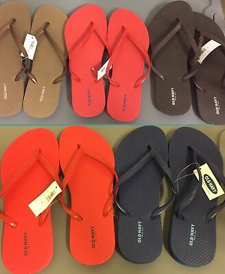 44be998e24e30 Old Navy Classic Flip Flop Thong Sandals Size 8 Women s Lot Of 5 Brown Navy  Red