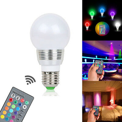 1pcs Smart LED Light Bulb WiFi Wireless Color RGB Lamp 3W E27 B22