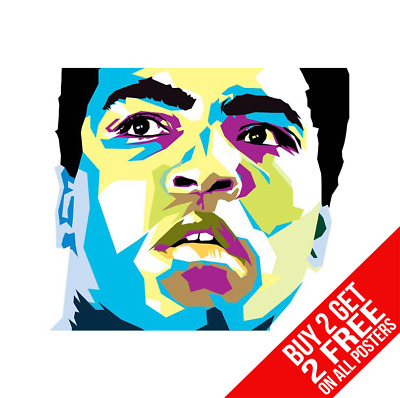 Muhammad Ali Pop Art Boxing Poster Art Print A4 A3 Size - Buy 2 Get Any 2 Free