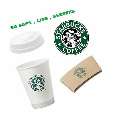 Starbucks White Disposable Hot Paper Cup, 12 Ounce,... - NO TAX. FREE 2 day Ship