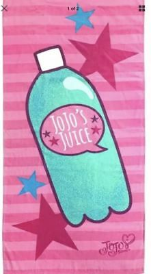 "JoJo Siwa Nickelodeon Jojo's Juice 28"" x 58"" Cotton Beach/Bath/Pool Towel - NWT"