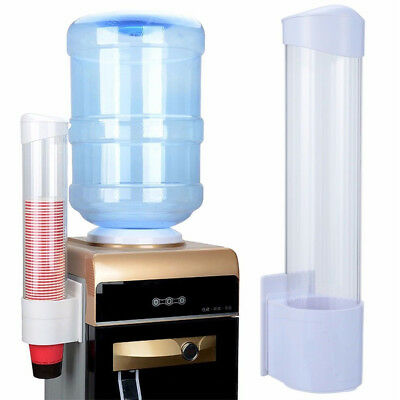 60 Cups Paper Cup Dispenser Plastic Holder One Touch Button Anti Dust 7.5cm Cup