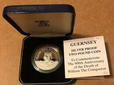 1987 Guernsey Silver Proof Two Pound Commemorative Coin