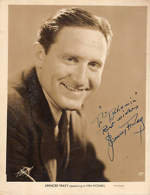 American Leading Oscar Winner Actor Spencer Ytacy , Autographed Studio Photo