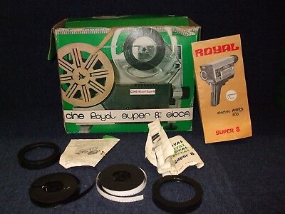Cine Royal Super 8 GIOCA Projector Vintage With Screen And Origional Box