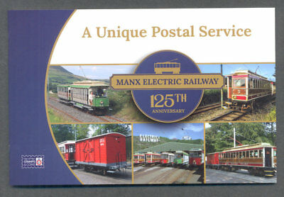 Isle of Man-Manx Electric Railway  2018 mnh self-adhesive Booklet complete