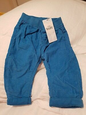Marks and Spencer Blue Cord Trousers Size  3-6 Months New WithTags