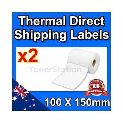 2 x Thermal Direct Shipping Labels Rolls 100mm X 150mm 350/Roll (Total=700)