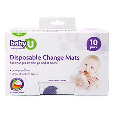 NEW Baby U Disposable Change Mats 10 Pack