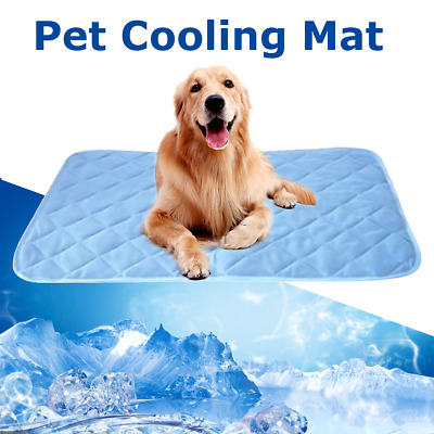 Pet Dog Cat Bed Fabric Mattress Ice Cooling Gel Pad Summer Chilly Waterproof Mat