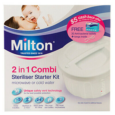 NEW Milton 2 in 1 Combi Sterilisation Starter Kit