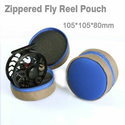 Hot Safety Fly Fishing Reel Case Protector Soft Pocket Cover Bag Pouch Holder