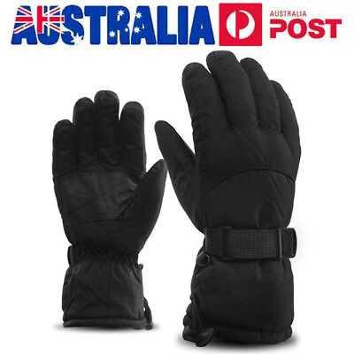 AU Men's Winter Warm Ski Gloves Waterproof Windproof Snowboard Sport Mittens
